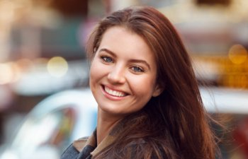 young woman with perfect smile