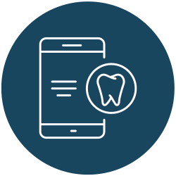 a cell phone with a tooth icon