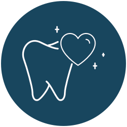 tooth and heart icon