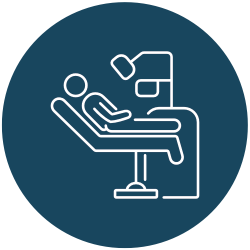 patient in a dental chair icon