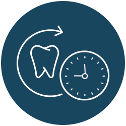 tooth and clock icon